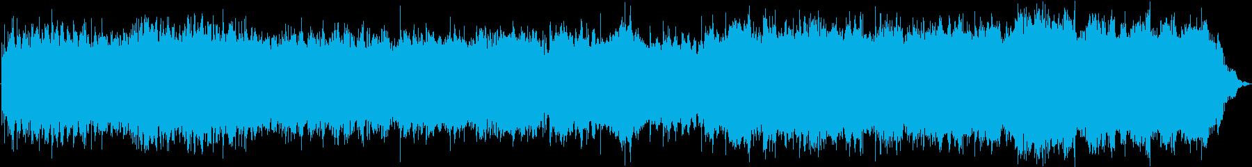 オルゴールを使った癒しの曲の再生済みの波形