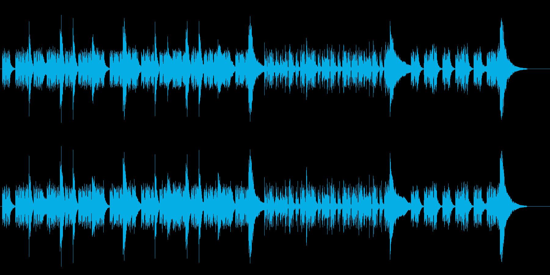 無機質で暗いドキュメンタリーBGMの再生済みの波形
