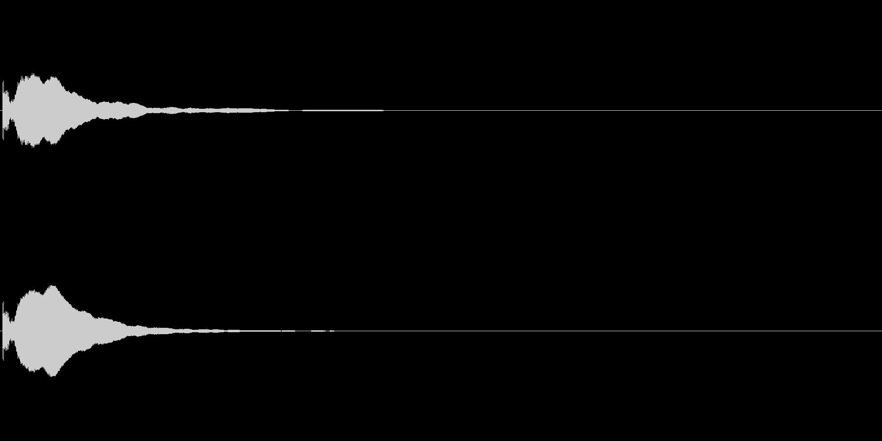 コン (テロップ/クリックする音)の未再生の波形
