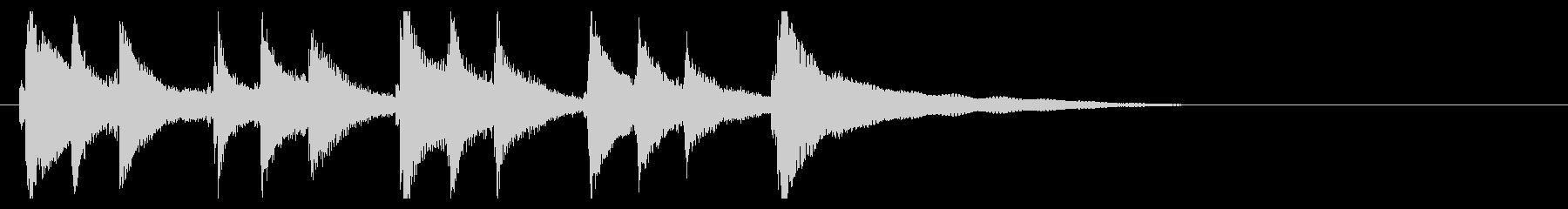 お琴の定番ジングル03の未再生の波形