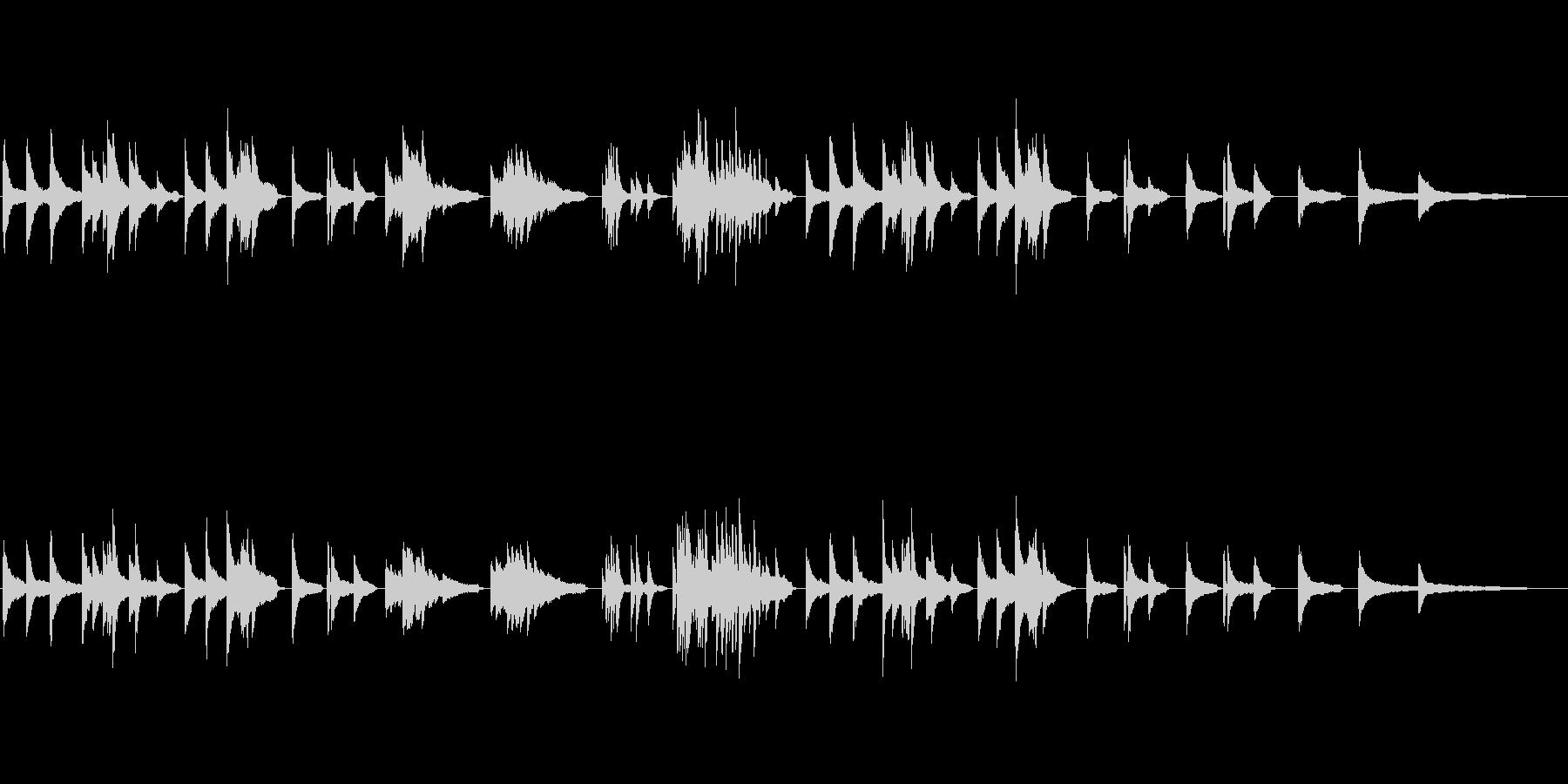 ソロピアノ、エンディングの場面の未再生の波形