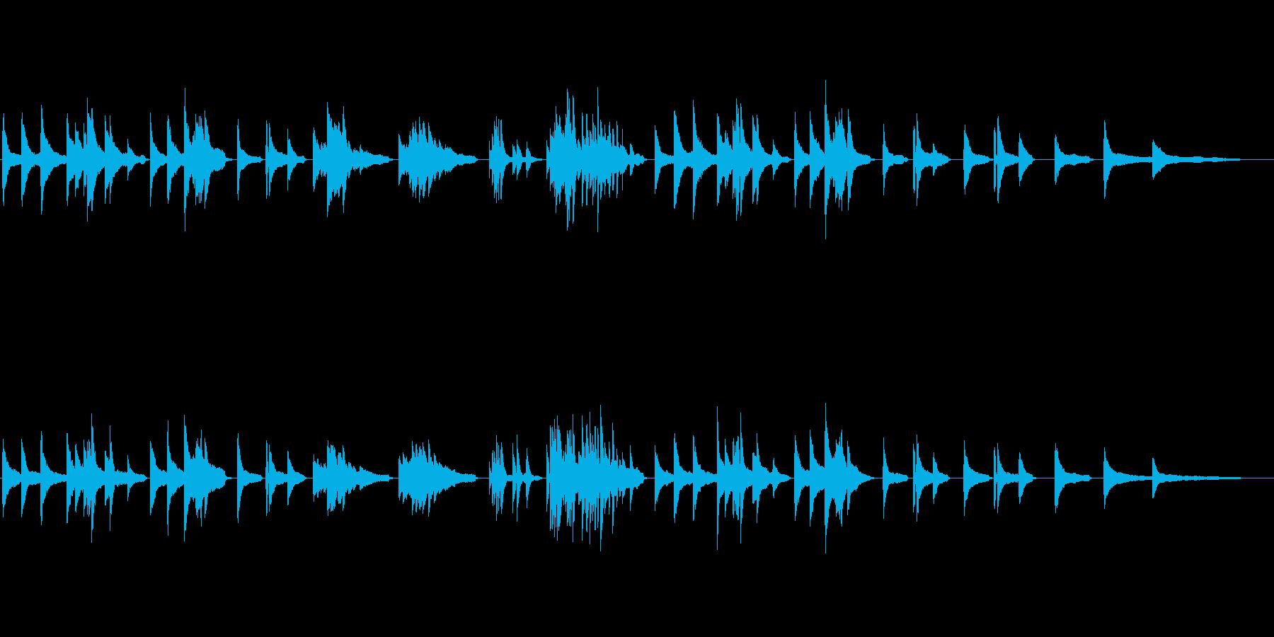 ソロピアノ、エンディングの場面の再生済みの波形