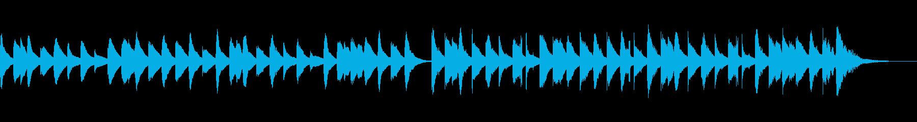 ゆったりかわいい楽しいキラキラマリンバcの再生済みの波形
