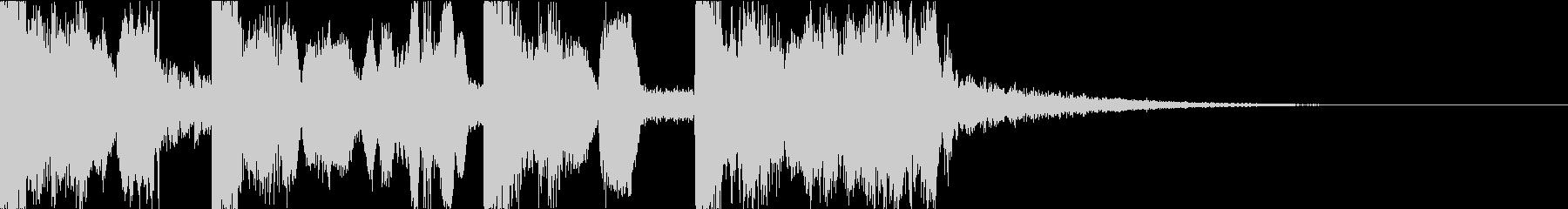 ボーカルチョップの都会的ポップジングルbの未再生の波形