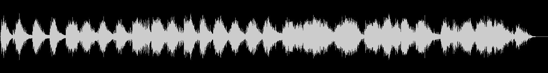 ピアノ即興によるヒーリングミュージックの未再生の波形