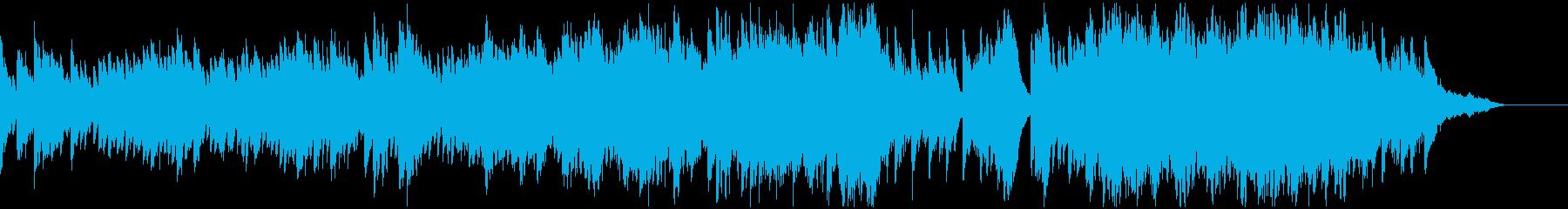心のやすらぎをイメージしたピアノ曲の再生済みの波形