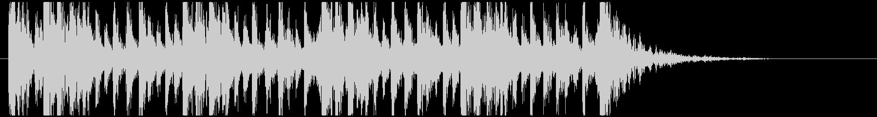 和太鼓のフレーズ1。残響ありの未再生の波形