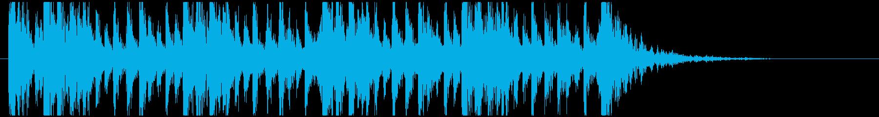和太鼓のフレーズ1。残響ありの再生済みの波形