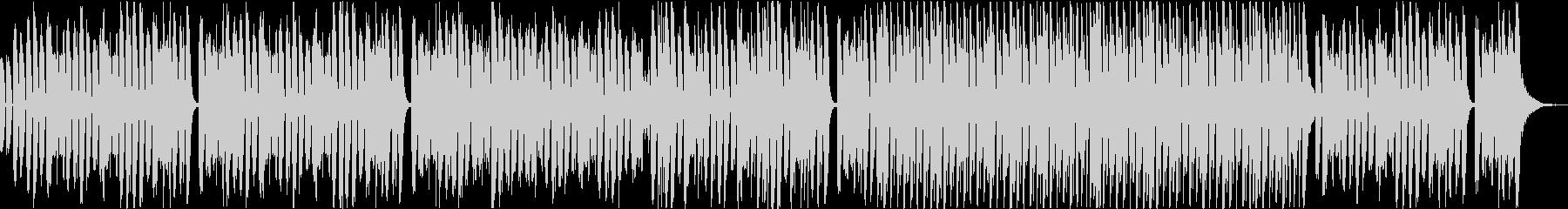 ピアノとダンスミュージックのミックスの未再生の波形