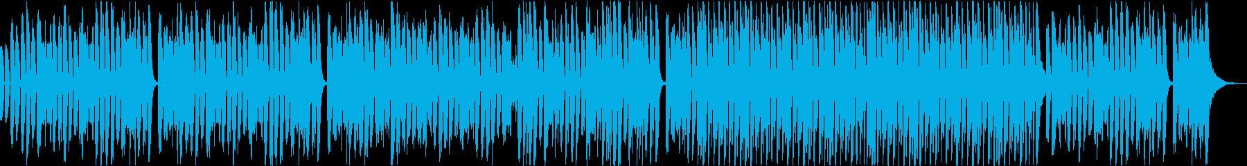 ピアノとダンスミュージックのミックスの再生済みの波形