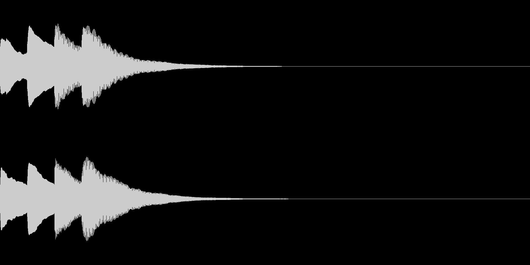 お知らせ・アナウンス音B下降(速め)04の未再生の波形