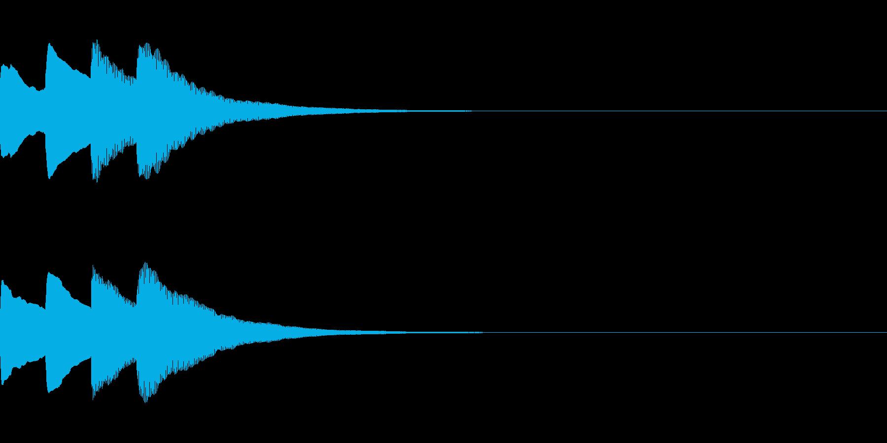 お知らせ・アナウンス音B下降(速め)04の再生済みの波形
