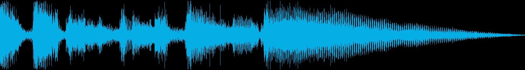クールでリズミカルなジングルの再生済みの波形