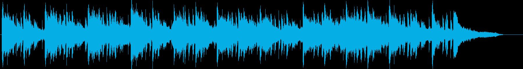 夜をイメージしたヒーリングミュージックの再生済みの波形