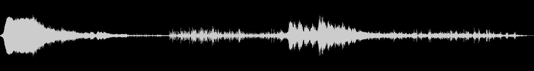 シフト状態ミュージカルパルサーの未再生の波形