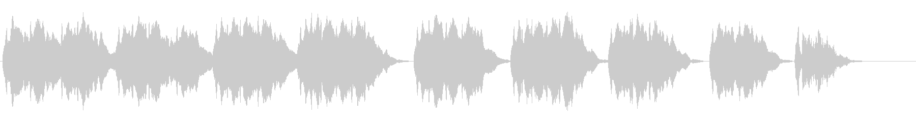 独奏弦楽器による妖しい旋律の未再生の波形