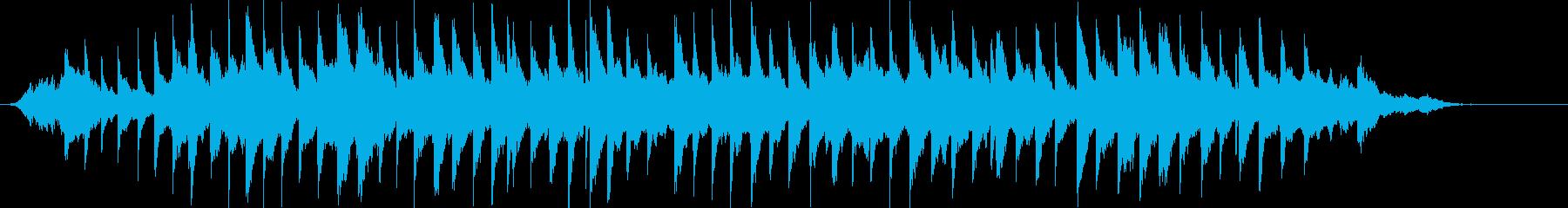 優しい、穏やか、澄んだピアノ曲の再生済みの波形