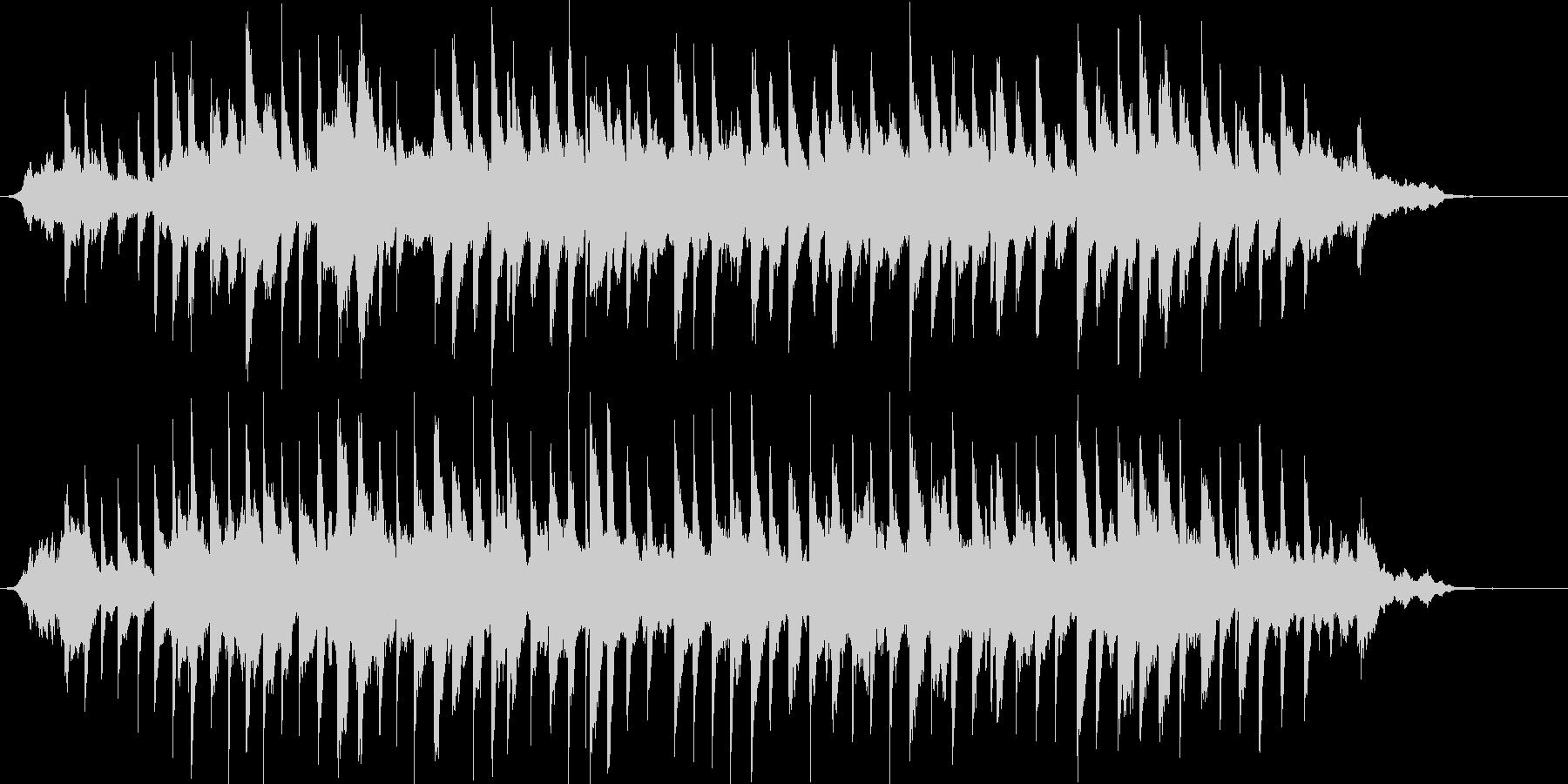 優しい、穏やか、澄んだピアノ曲の未再生の波形