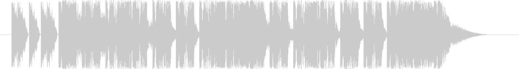 ダンサブルなエレクトロ(11秒ジングル)の未再生の波形