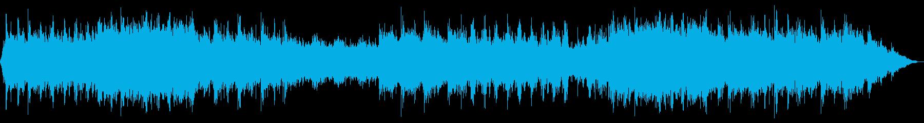 緊迫感のあるオーケストラの再生済みの波形