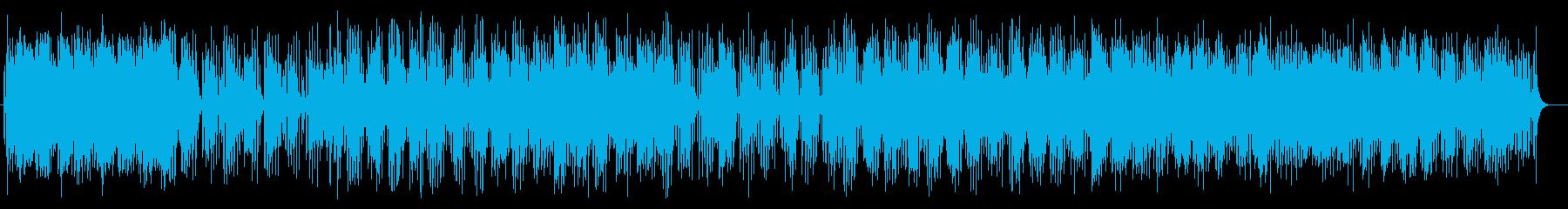 楽しげで軽やかなシンセサイザーサウンドの再生済みの波形