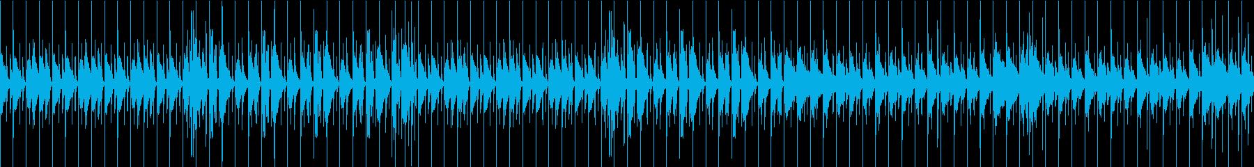 ノリノリな雰囲気の音楽の再生済みの波形