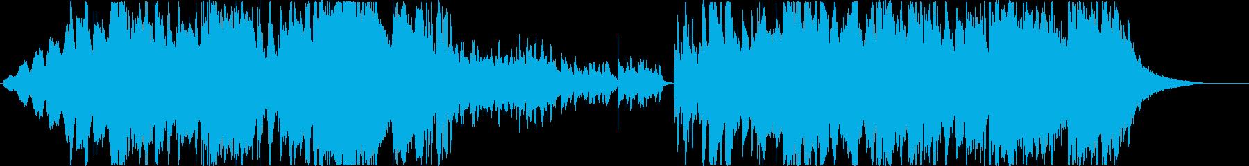 シネマ風のエレクトリックホラーBGMの再生済みの波形