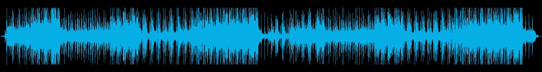 ベル音で軽快なサウンドトラックの再生済みの波形