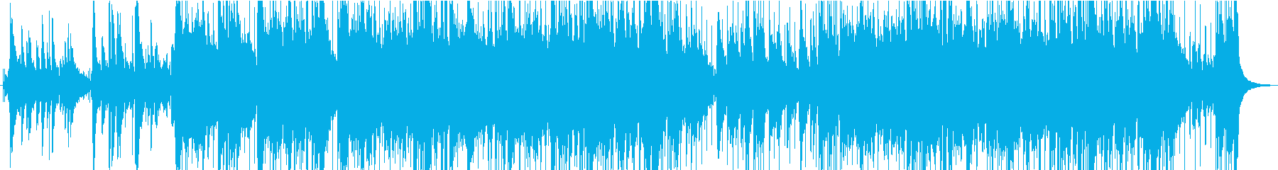 スペイン風ギターのロックインストの再生済みの波形