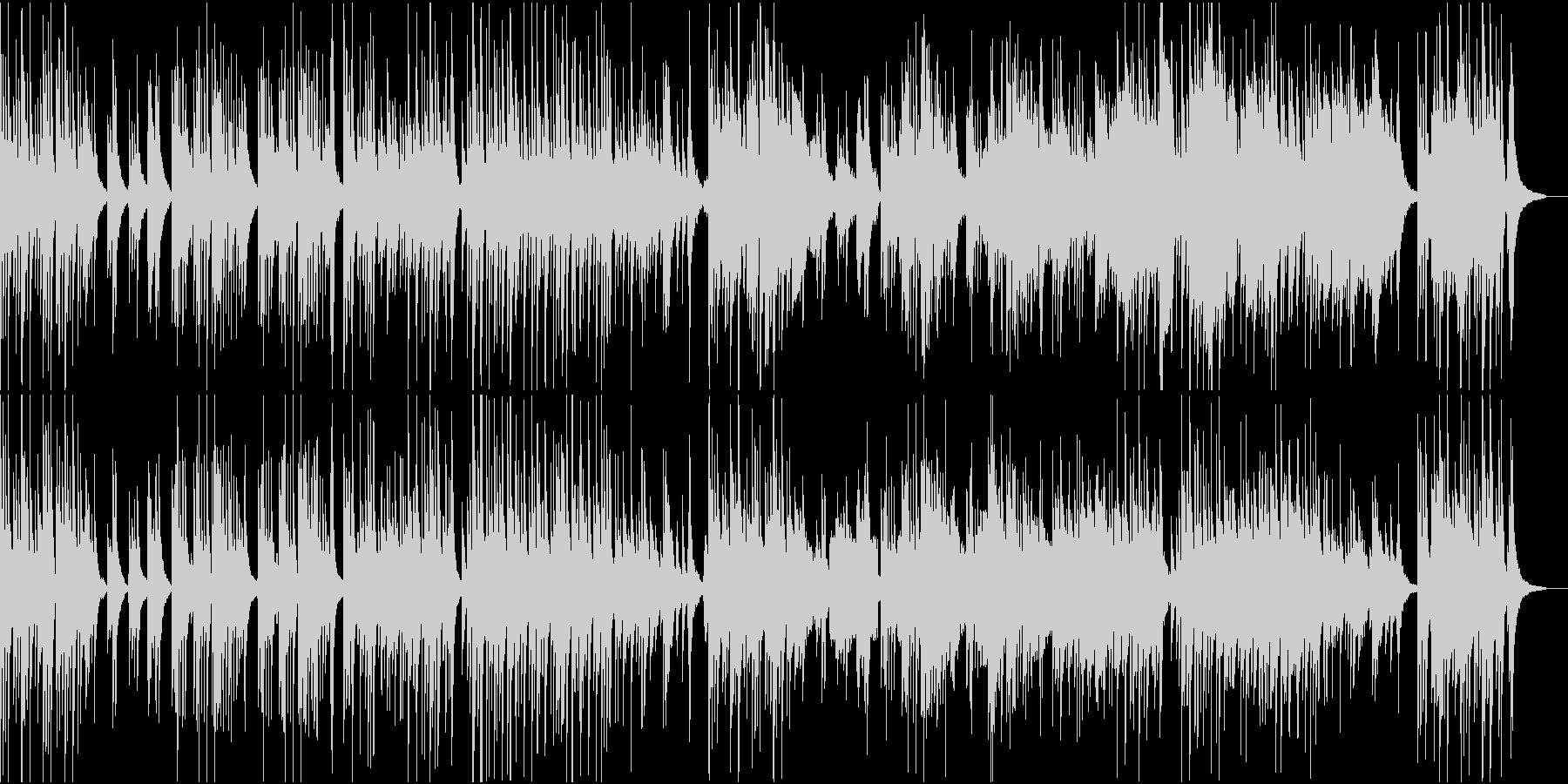 中華風な琴としっとりした笛の未再生の波形