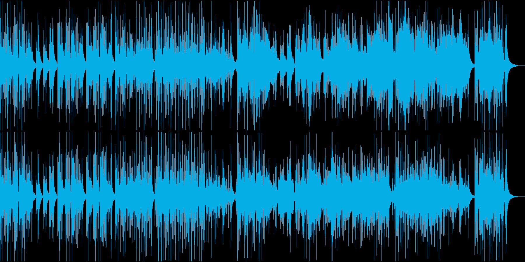 中華風な琴としっとりした笛の再生済みの波形