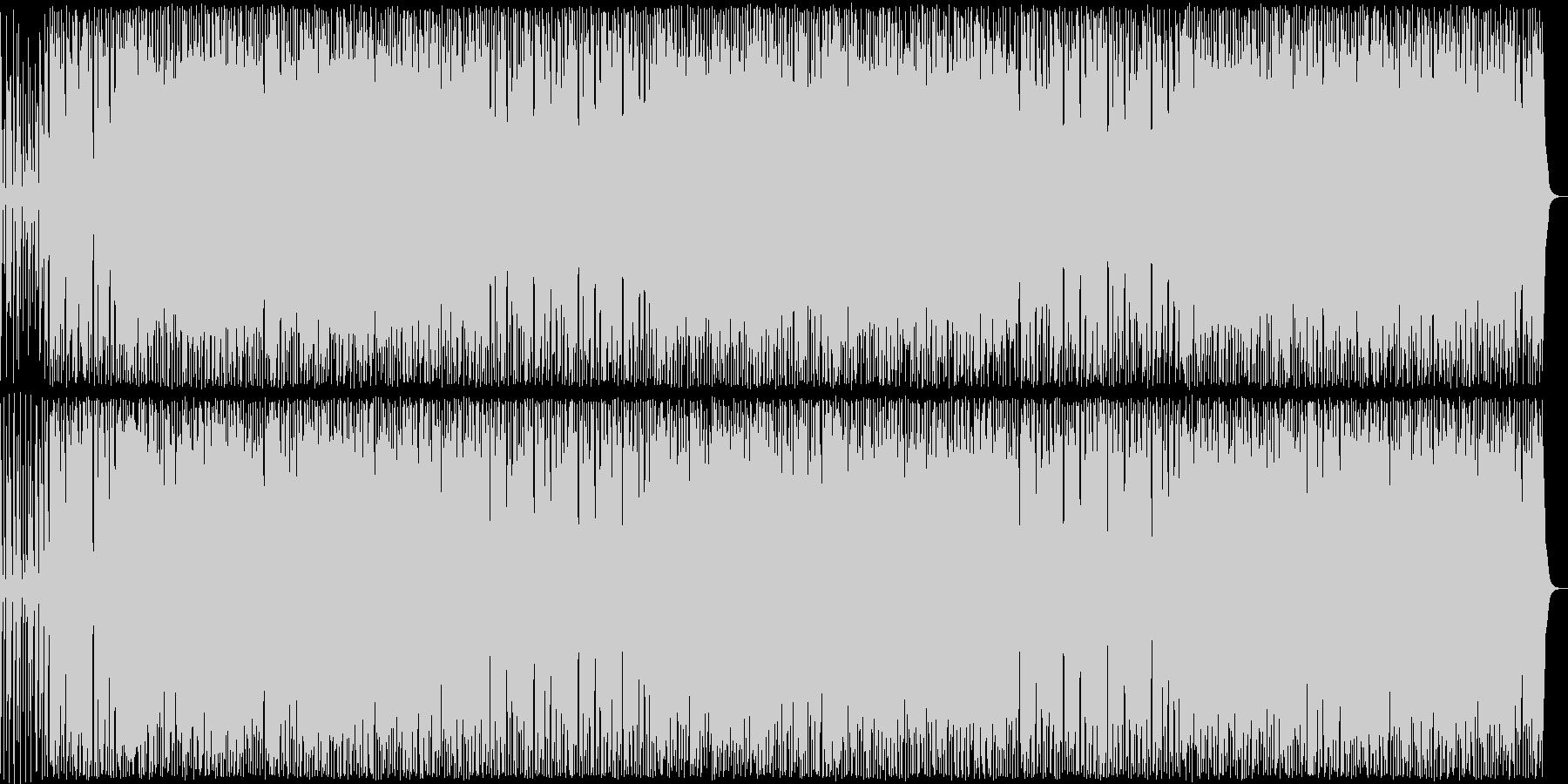 コミカルなギター・ドラムなどのサウンドの未再生の波形