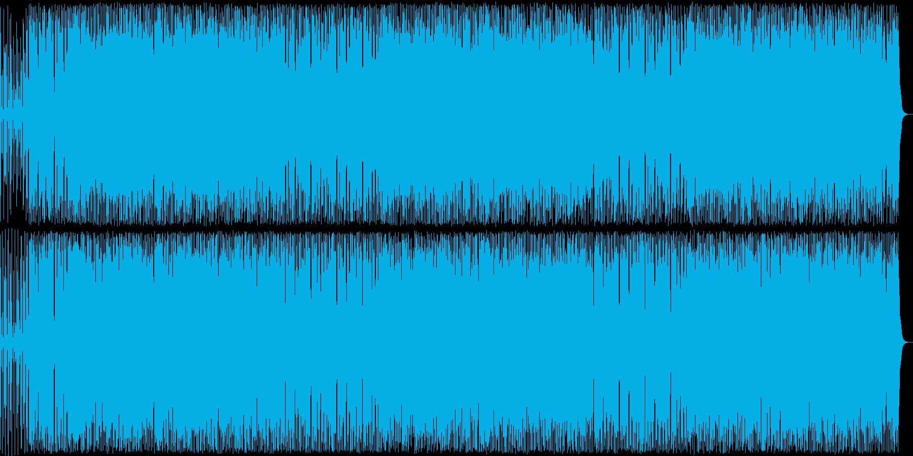 コミカルなギター・ドラムなどのサウンドの再生済みの波形