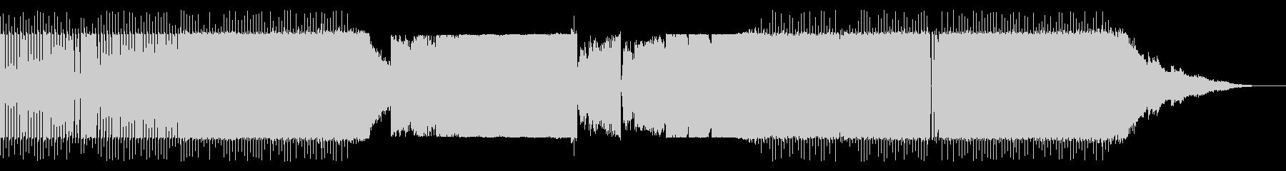 個性的なベース音の四つ打ちの未再生の波形