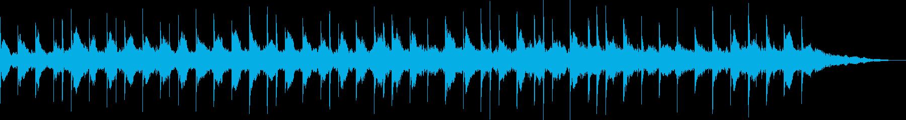 ファンタジックな雰囲気の場面転換的楽曲の再生済みの波形