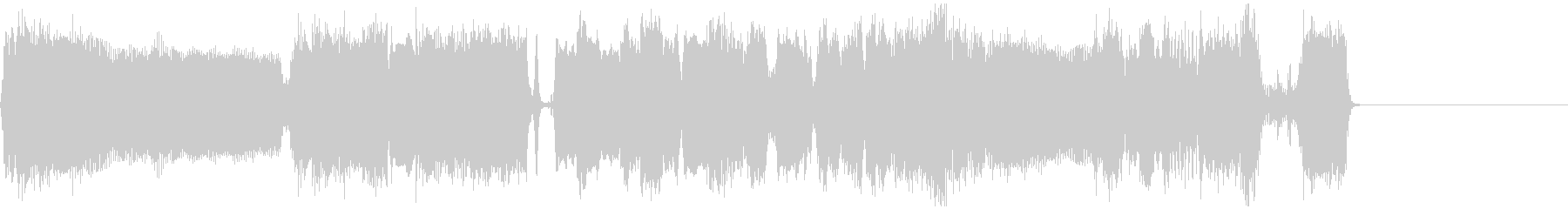 クールなエレキギターアイキャッチ3の未再生の波形