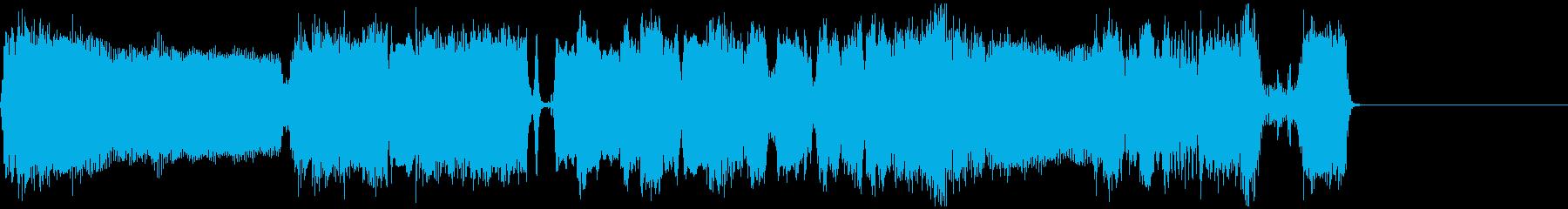 クールなエレキギターアイキャッチ3の再生済みの波形