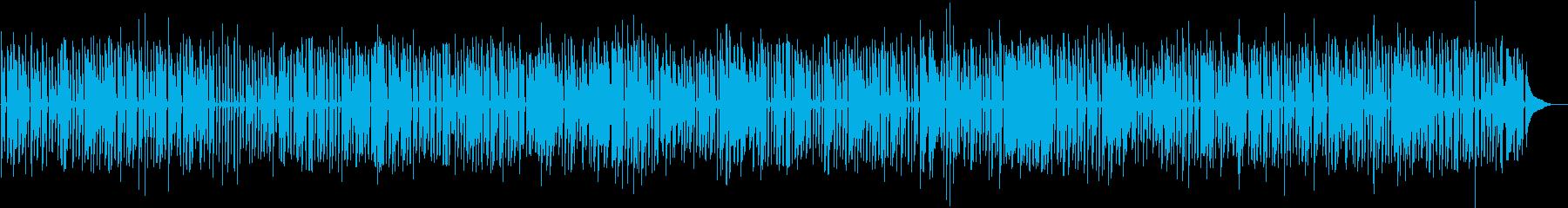 楽しい映像向けワクワクするジャズピアノの再生済みの波形