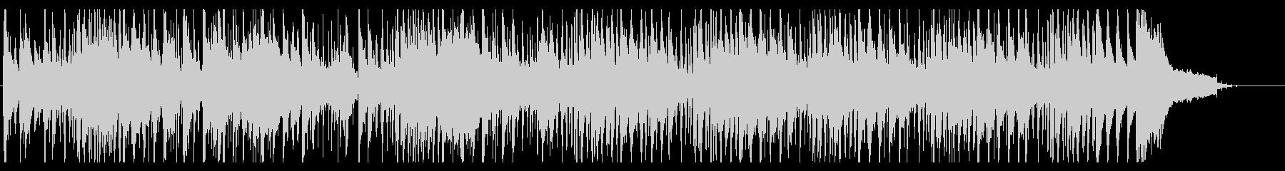 知的でシンプルなジャズの未再生の波形