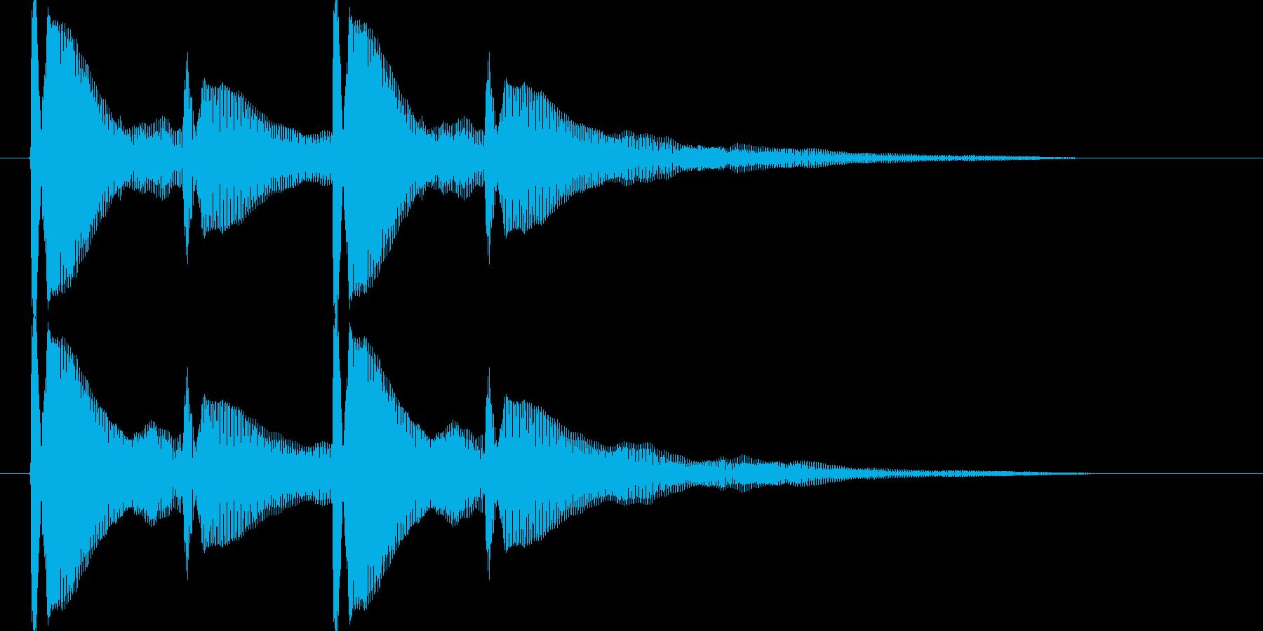ピンポンピンポン【耳当たりのいい正解音】の再生済みの波形