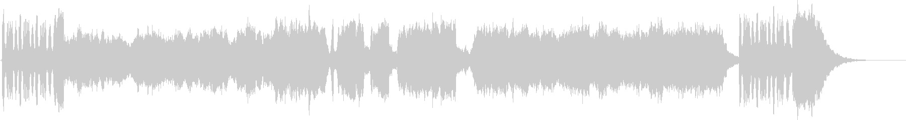 壮大なフルオーケストラのファンファーレの未再生の波形