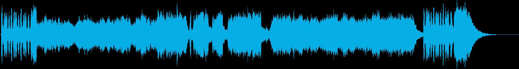 壮大なフルオーケストラのファンファーレの再生済みの波形