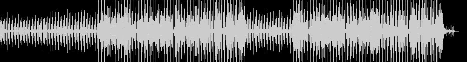 ほのぼのしてかわいいピアノと木琴ポップスの未再生の波形