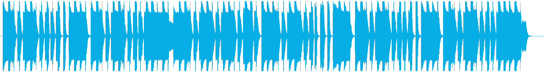 可愛らしいコミカルなリコーダーメインの曲の再生済みの波形