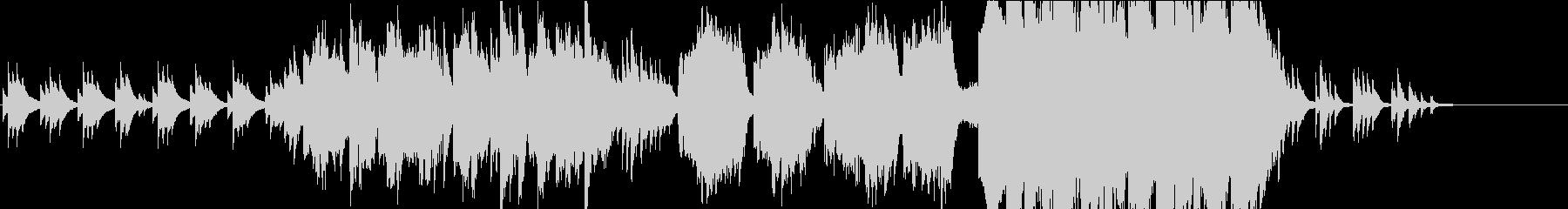 【生演奏】フルートとピアノ主体の和風曲の未再生の波形