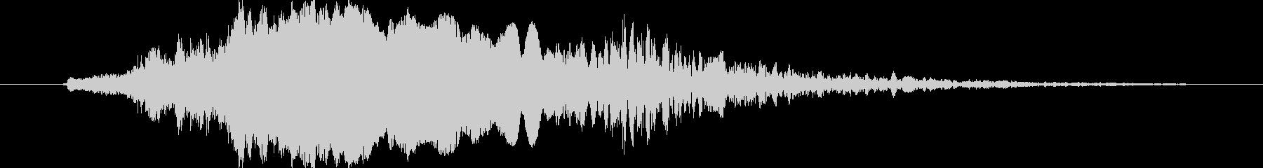 ワシの鳴き声の未再生の波形