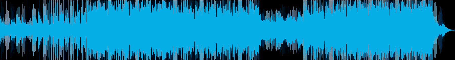 映像やイベントに、クールなシンセサウンドの再生済みの波形