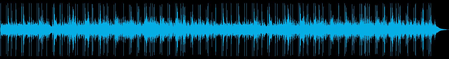 三線の音色が明るく落ち着いた沖縄BGMの再生済みの波形