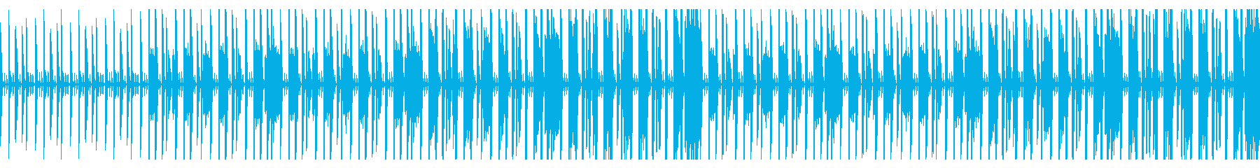 拍子抜けするような雰囲気のファンクの再生済みの波形