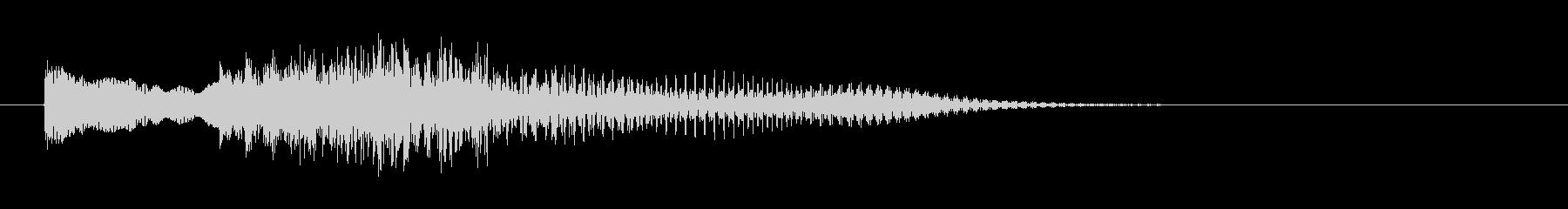 ピアノとストリングによる不吉な場面転換音の未再生の波形